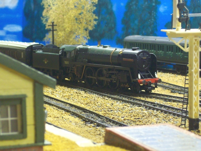 70013, Oliver Cromwell enters Horsted with a Vintage train.